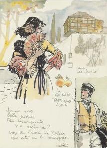 Posible boceto para las aventuras de Corto Maltés durante la Guerra Civil Española
