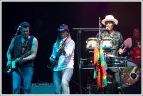 Tyrone Vaughan, Charlie Wooton, Cyril Neville y Yonrico Scott (Foto: La Espuma de los días – Helena)